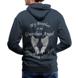 Brother Guardian Angel Men's Premium Hoodie (CK1404M) - navy