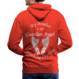 Brother Guardian Angel Men's Premium Hoodie (CK1404M) - red