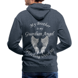 Brother Guardian Angel Men's Premium Hoodie (CK1404M) - heather denim
