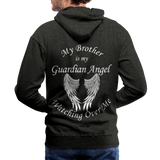 Brother Guardian Angel Men's Premium Hoodie (CK1404M) - charcoal gray
