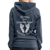 Sister Guardian Angel Women's Premium Hoodie (CK1406W) - heather denim