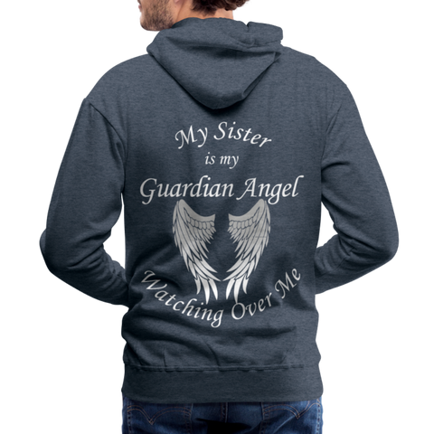Sister Guardian Angel Men's Premium Hoodie (CK1406M) - heather denim