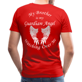 Brother Guardian Angel Men's Premium T-Shirt (Ck1415) - red
