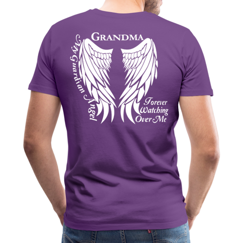 Grandma Guardian Angel Men's Premium T-Shirt - purple
