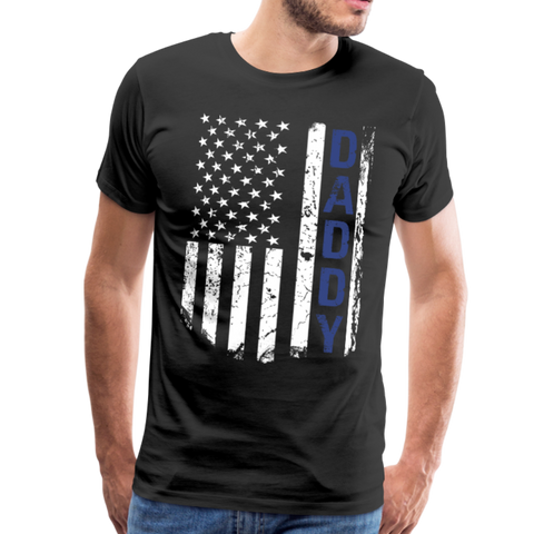 American Daddy Flag Men's Premium T-Shirt (CK1087) - black