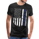 American Daddy Flag Men's Premium T-Shirt (CK1087) - charcoal gray