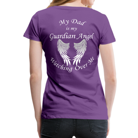 Dad Guardian Angel Women's Premium T-Shirt (CK1454W) - purple