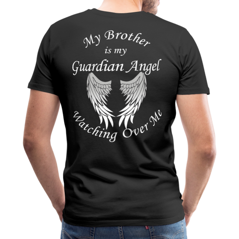 Brother Guardian Angel Men's Premium T-Shirt (CK1463U) - black