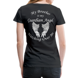 Brother Guardian Angel Women's Premium T-Shirt (CK1463W) - black