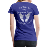 Brother Guardian Angel Women's Premium T-Shirt (CK1463W) - royal blue