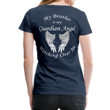 Brother Guardian Angel Women's Premium T-Shirt (CK1463W) - navy