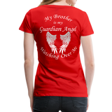 Brother Guardian Angel Women's Premium T-Shirt (CK1463W) - red