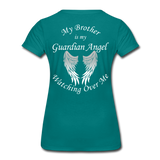 Brother Guardian Angel Women's Premium T-Shirt (CK1463W) - teal
