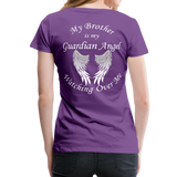 Brother Guardian Angel Women's Premium T-Shirt (CK1463W) - purple
