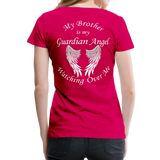 Brother Guardian Angel Women's Premium T-Shirt (CK1463W) - dark pink