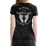 Brother Guardian Angel Women's Premium T-Shirt (CK1463W) - charcoal gray