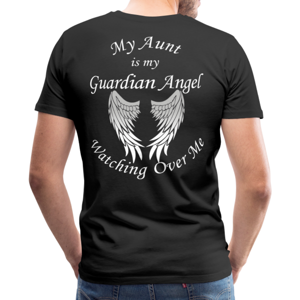 Aunt Guardian Angel Men's Premium T-Shirt (CK1474) - black
