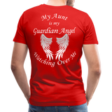 Aunt Guardian Angel Men's Premium T-Shirt (CK1474) - red