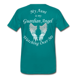 Aunt Guardian Angel Men's Premium T-Shirt (CK1474) - teal