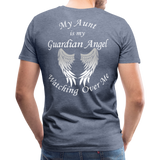 Aunt Guardian Angel Men's Premium T-Shirt (CK1474) - heather blue