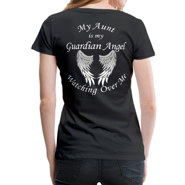 Aunt Guardian Angel Women's Premium T-Shirt (CK1474W) - black