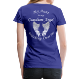 Aunt Guardian Angel Women's Premium T-Shirt (CK1474W) - royal blue