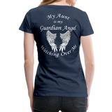 Aunt Guardian Angel Women's Premium T-Shirt (CK1474W) - navy
