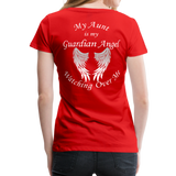 Aunt Guardian Angel Women's Premium T-Shirt (CK1474W) - red
