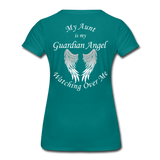 Aunt Guardian Angel Women's Premium T-Shirt (CK1474W) - teal