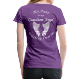 Aunt Guardian Angel Women's Premium T-Shirt (CK1474W) - purple
