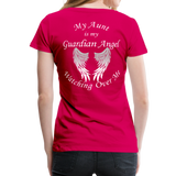 Aunt Guardian Angel Women's Premium T-Shirt (CK1474W) - dark pink