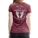 Aunt Guardian Angel Women's Premium T-Shirt (CK1474W) - heather burgundy