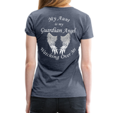 Aunt Guardian Angel Women's Premium T-Shirt (CK1474W) - heather blue