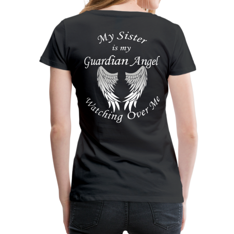 Sister Guardian Angel Women's Premium T-Shirt (CK1476W) - black