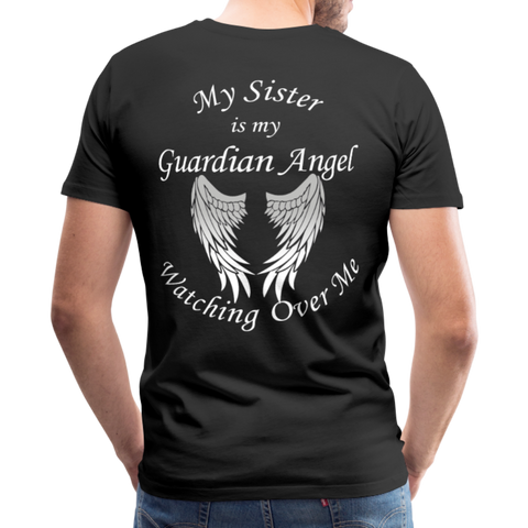 Sister Guardian Angel Men's Premium T-Shirt (CK1476U) - black