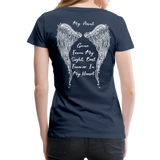 My Sister Gone From Sight Women's Premium T-Shirt (CK1603) - navy