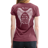 My Sister Gone From Sight Women's Premium T-Shirt (CK1603) - heather burgundy