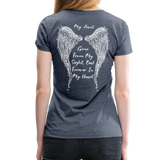 My Sister Gone From Sight Women's Premium T-Shirt (CK1603) - heather blue