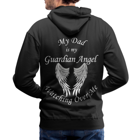 Dad Guardian Angel Men's Premium Hoodie (CK1402M) - black