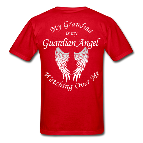 Grandma Guardian Angel Gildan Ultra Cotton Adult T-Shirt - red