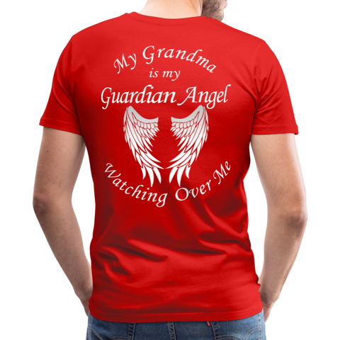 Grandma Guardian Angel Men's Premium T-Shirt - red
