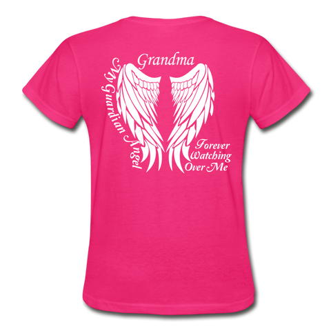 Grandma Guardian Angel Gildan Ultra Cotton Ladies T-Shirt - fuchsia