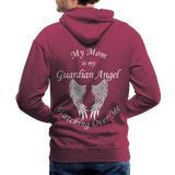 Mom Guardian Angel Men's Premium Hoodie (CK1672W) - burgundy
