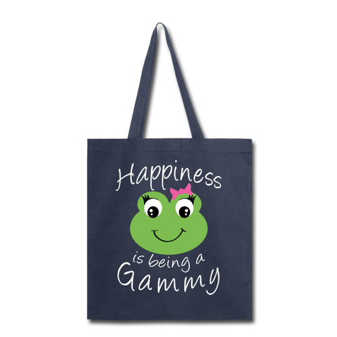 Happiness is being a Gammy Tote Bag - navy