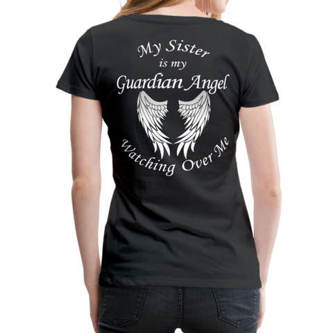 Sister Guardian Angel Women's Premium T-Shirt (CK1360) - black