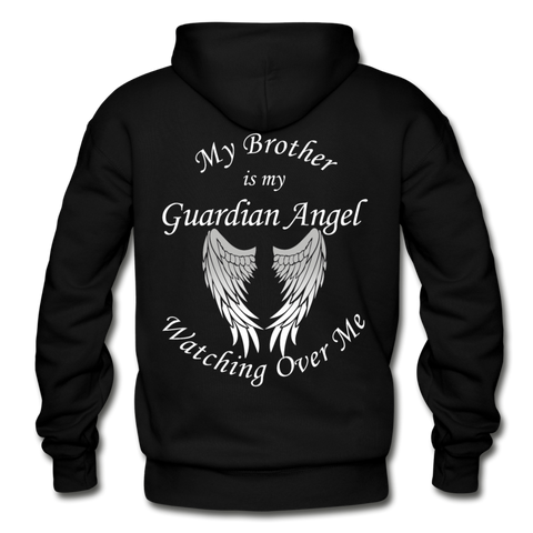 Brother Guardian Angel Gildan Heavy Blend Adult Hoodie (CK1404) - black