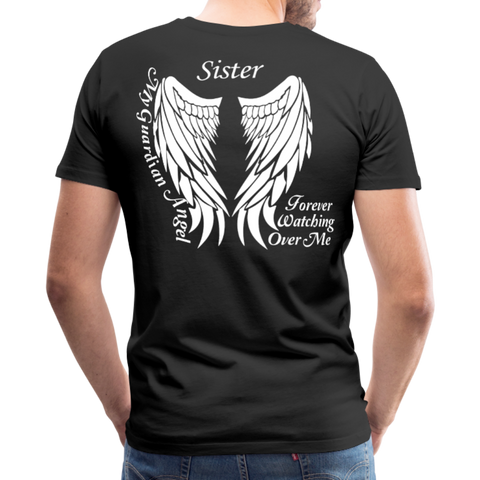 Sister Guardian Angel Men's Premium T-Shirt (Ck1484) - black