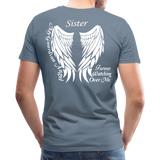 Sister Guardian Angel Men's Premium T-Shirt (Ck1484) - steel blue