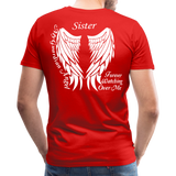 Sister Guardian Angel Men's Premium T-Shirt (Ck1484) - red