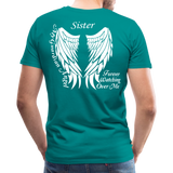 Sister Guardian Angel Men's Premium T-Shirt (Ck1484) - teal